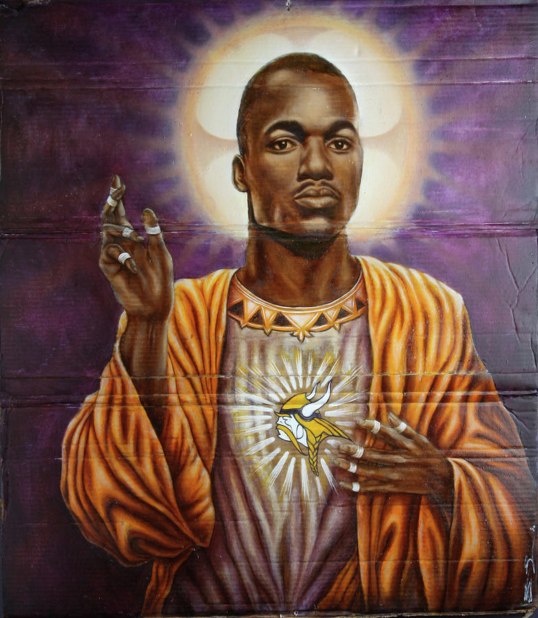 Adrian Peterson Painting - Purple Jesus by Francois  Lariviere