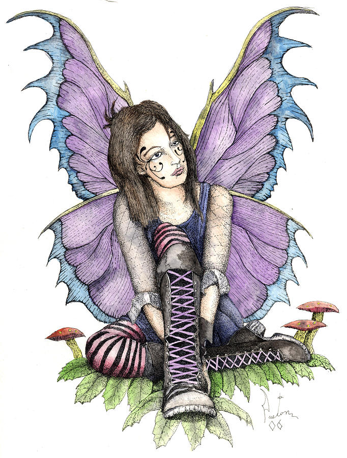 Gothic Fairy Painting - Purple Laces by Preston Shupp