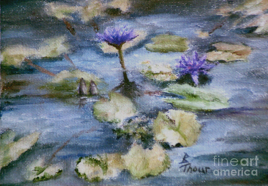 Lily Painting - Purple Lily by Brenda Thour