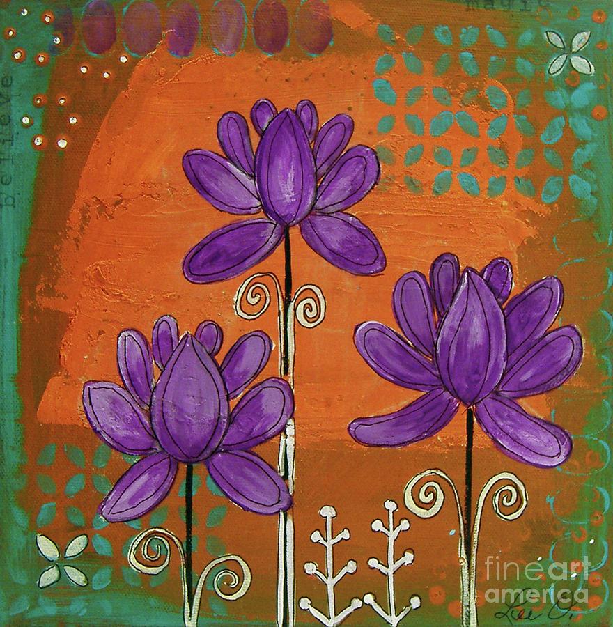 Purple Lotus by Lee Owenby