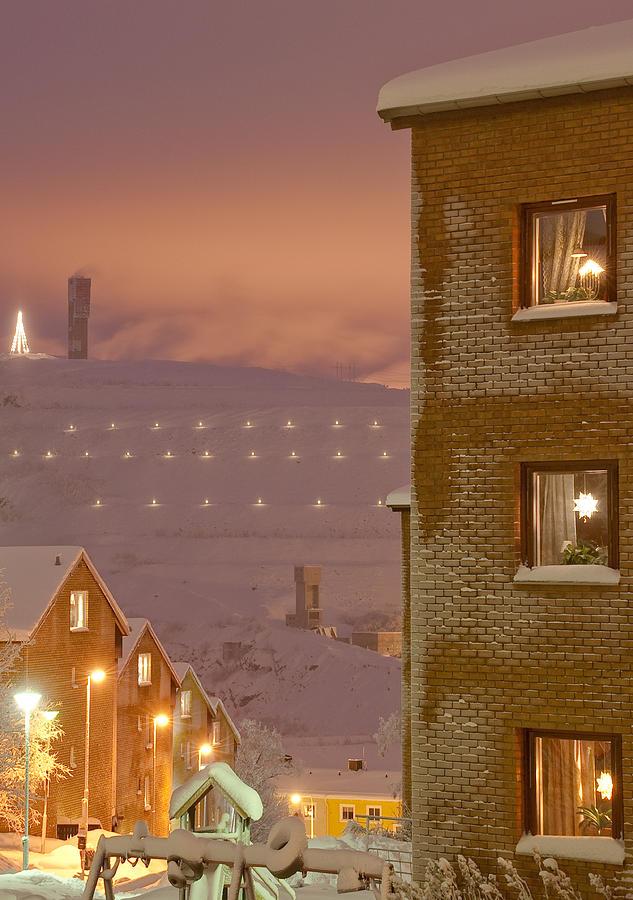 Kiruna Photograph - Purple Mine Town by Jonas Sundberg