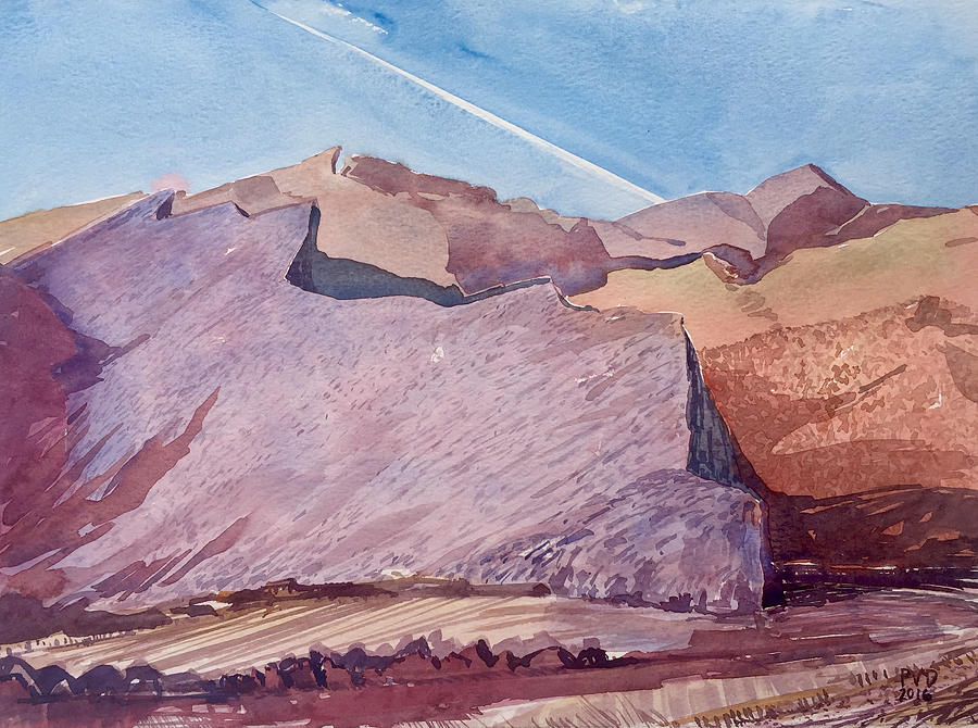 Mountains Painting - Purple Mountain Majesty by Vaughan Davies