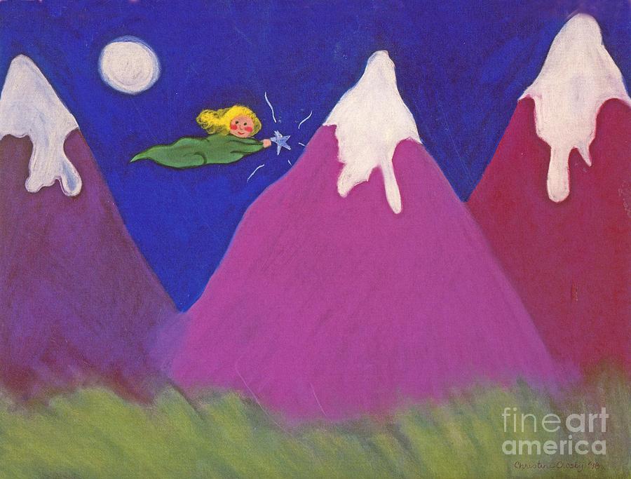 Landscape Pastel - Purple Mountains Majesty by Christine Crosby