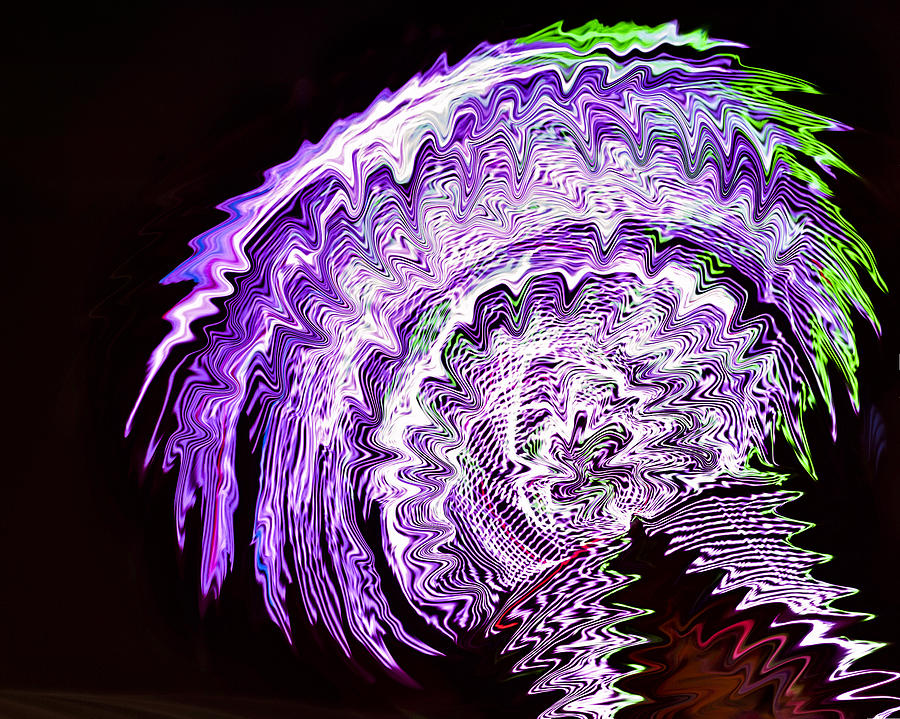 Purple Mushroom by Linda Constant