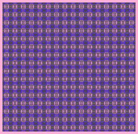 Purple Original Abstract Pattern Painting by Mohammad Safavi naini