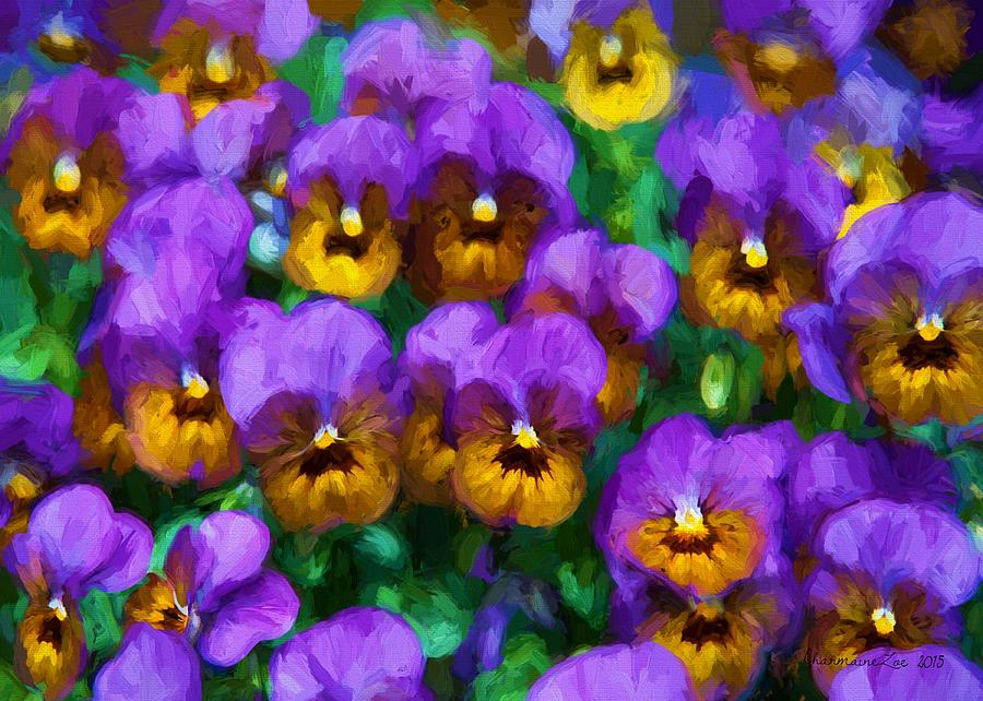 Purple Pansies by Charmaine Zoe
