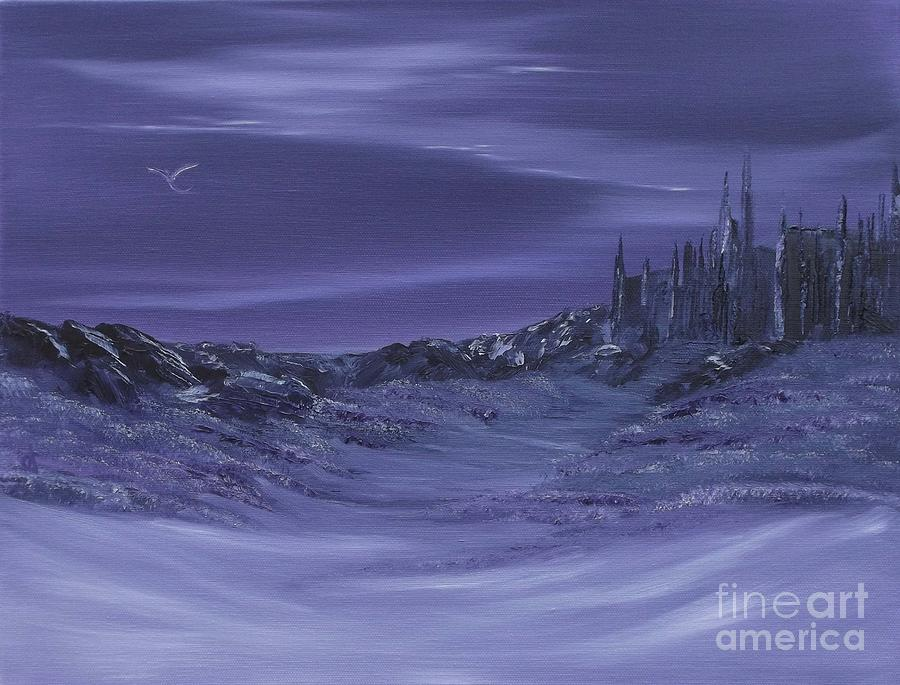Purple Paradise Sold Painting by Cynthia Adams