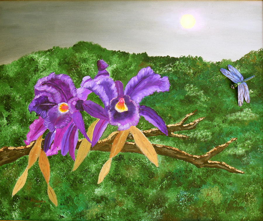 Orchids Painting - Purple Passion by Alanna Hug-McAnnally