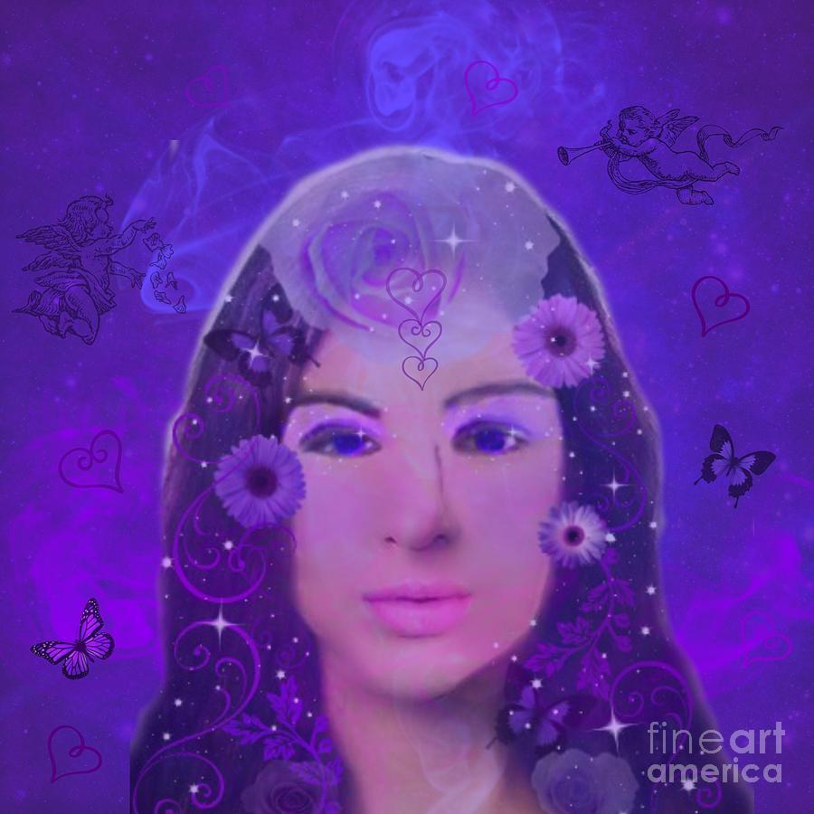 Purple Digital Art - Purple Passion by Diamante Lavendar