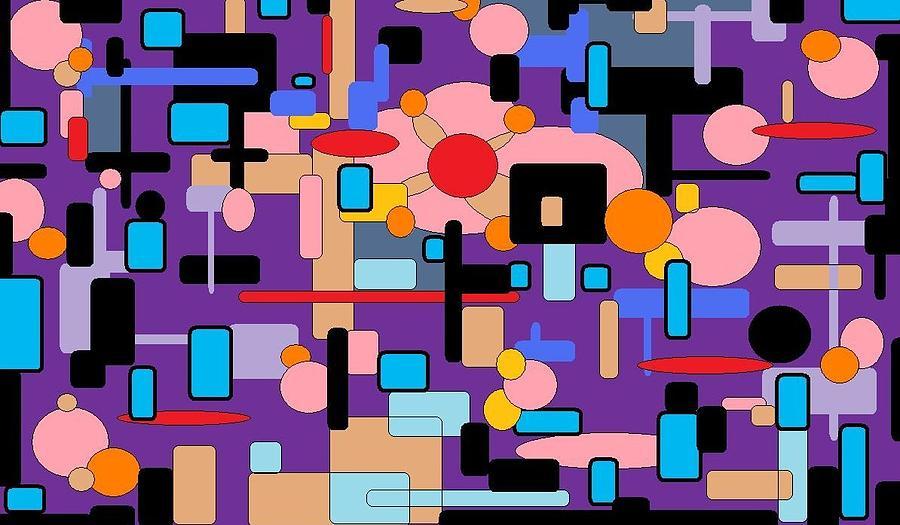 Purple Passion Digital Art by Jordana Sands
