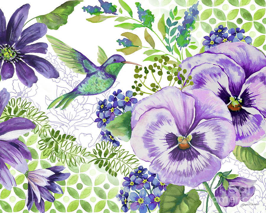 Floral Painting - Purple Passion-jp3931 by Jean Plout