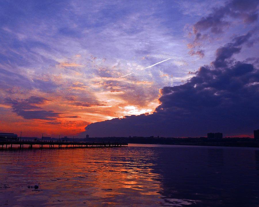 Landscape Photograph - Purple Passion Skies by Kendall Eutemey