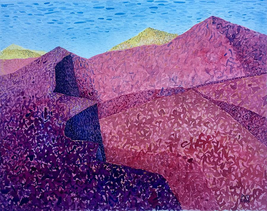 Purple Painting - Purple Peak by Vaughan Davies