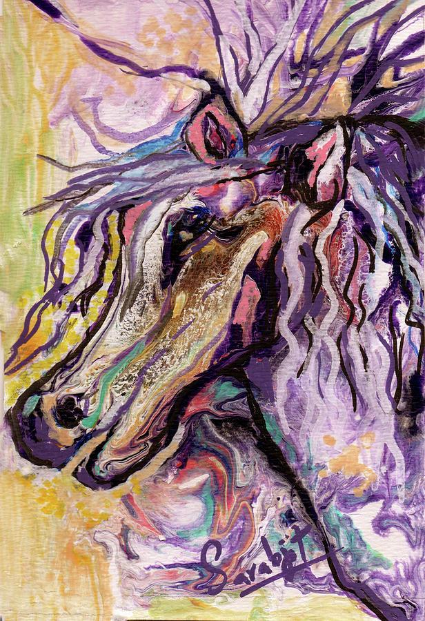 Purple Pegasus by Sarabjit Singh