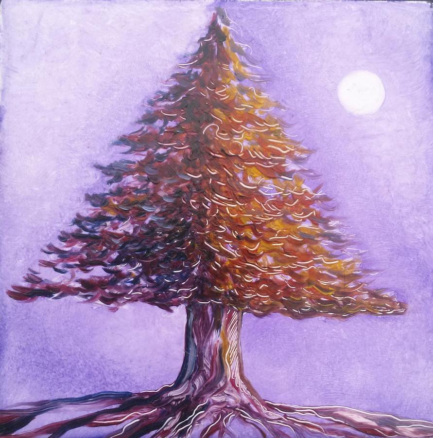 Purple Painting - Purple Pine  by Karen Doyle