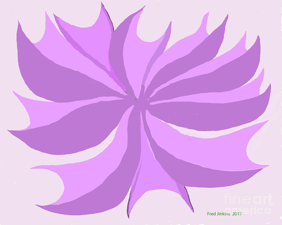 Plant Design Digital Art - Purple Plant by Fred Jinkins