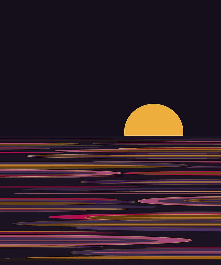 Purple Digital Art - Purple Pond Reflections by Val Arie