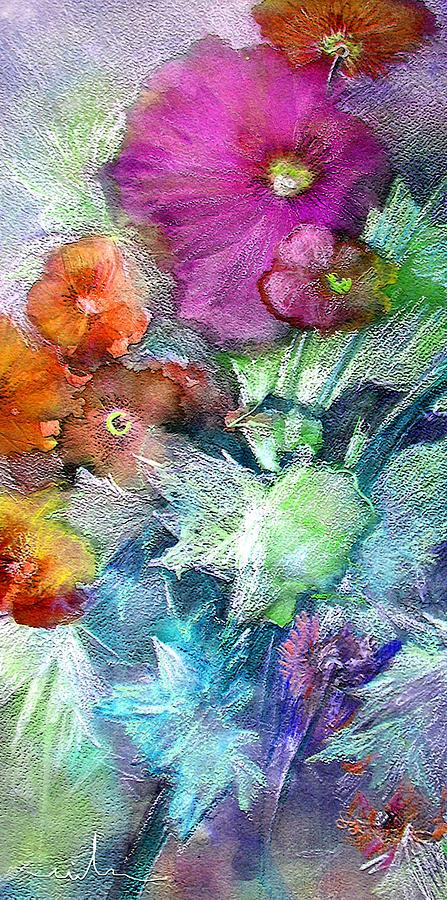 Flowers Painting - Purple Queen by Miki De Goodaboom