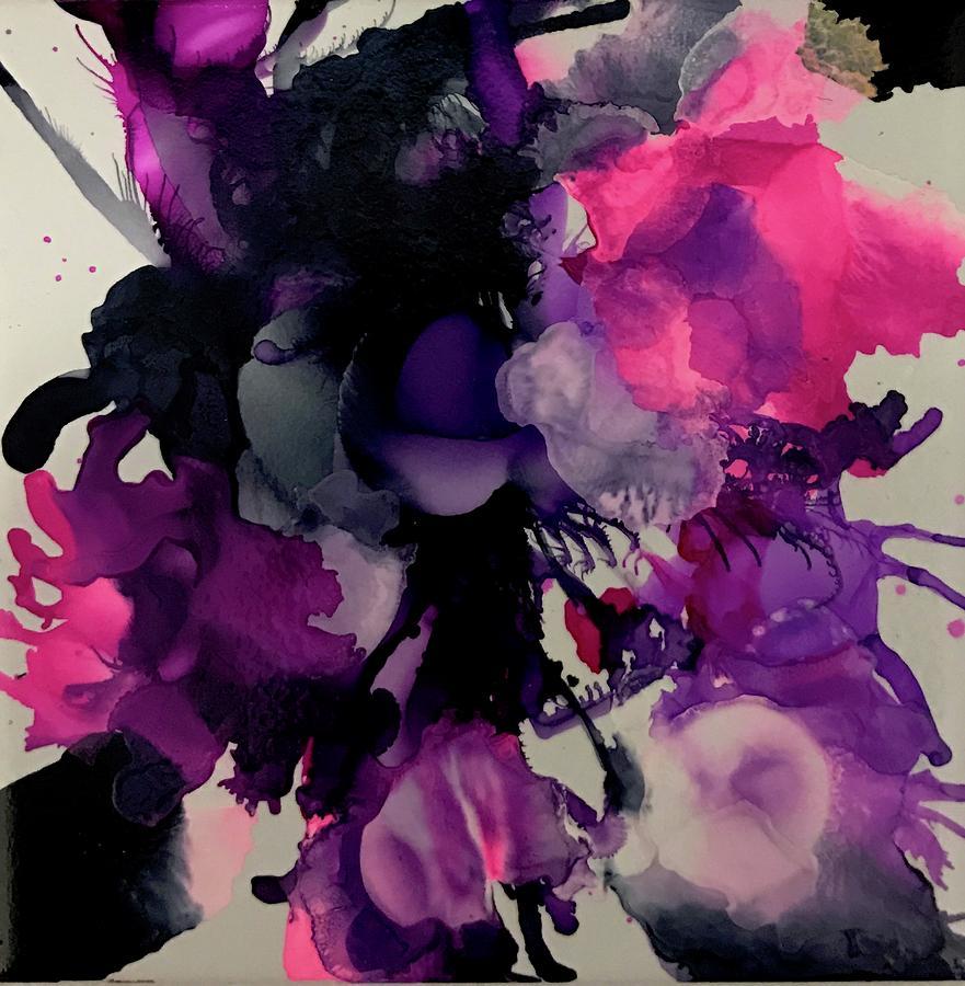 Purple Rain Painting by Alice Lipping