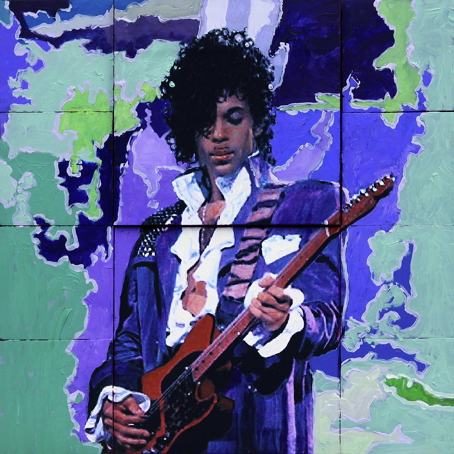 Price Painting - Purple Rain and Prince by John Lautermilch