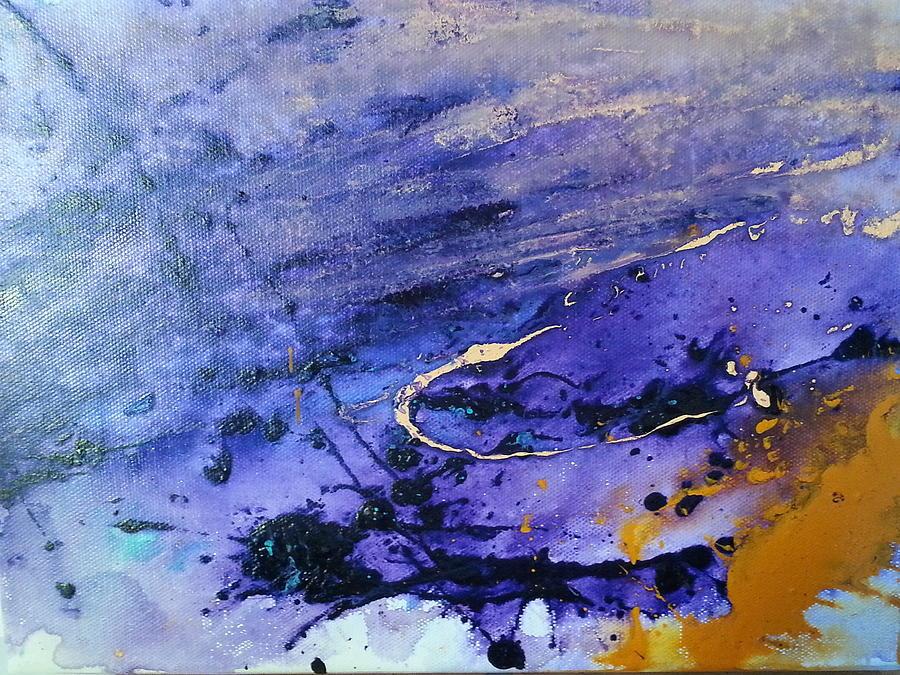 Purple Rain Painting by Jan Pellizzer