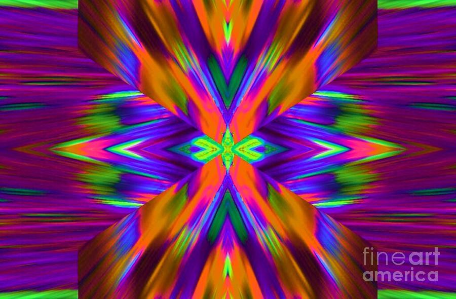 Abstract Digital Art - Purple Rain by Lorles Lifestyles