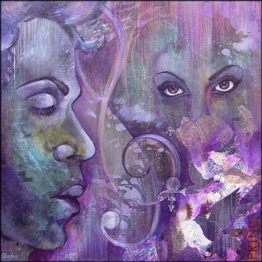 Prince Painting - Purple Rain by Shadia Derbyshire