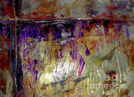 Abstract Painting - Purple Reign by Lenore Walker