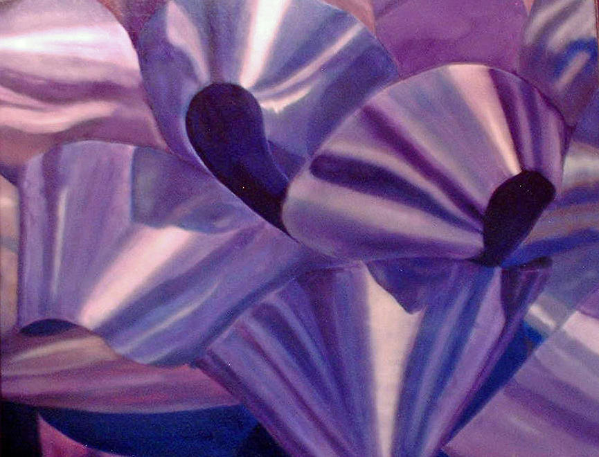 Ribbon Painting - Purple Ribbon by Ladonna Idell