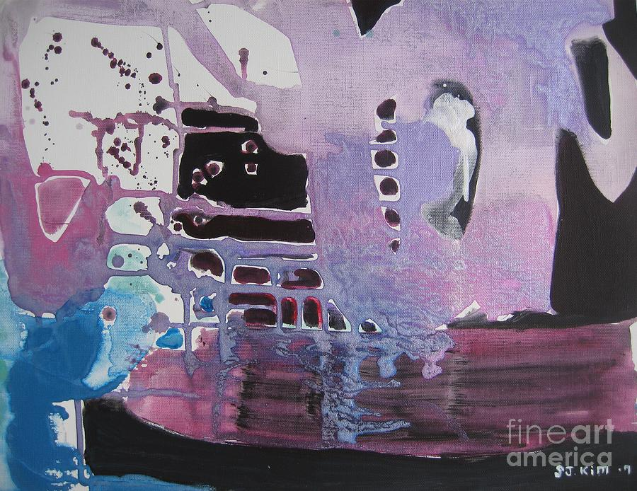 Abstract Paintings Painting - Purple Seascape by Seon-Jeong Kim