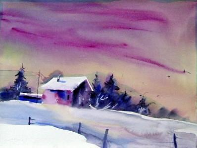 Purple Skies Painting by Barbara Elmslie