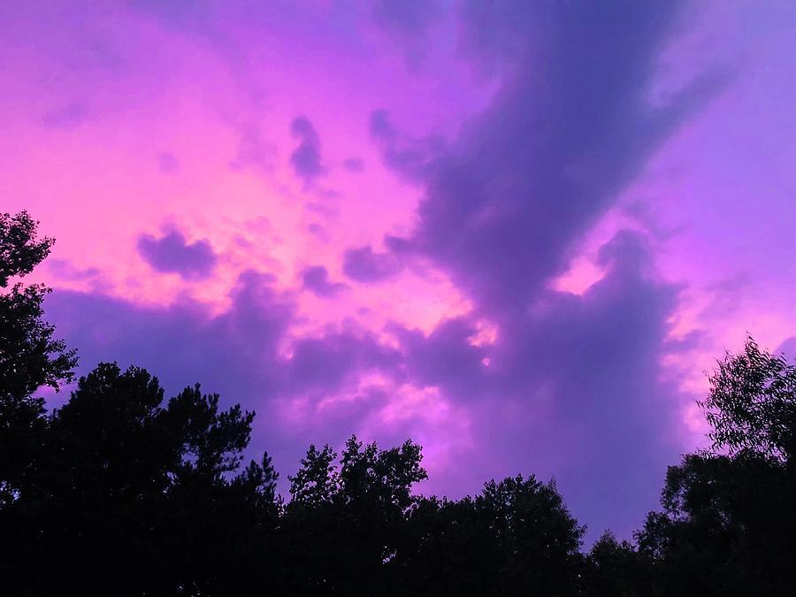 Sky Photograph - Purple Sky by Carmen Clark