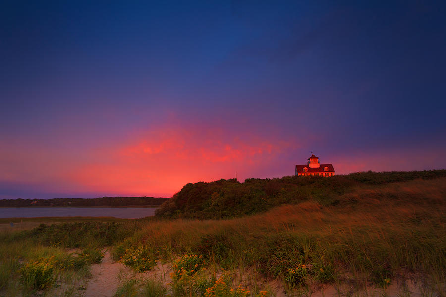 Purple Sky Photograph - Purple Sky Over Coast Guard Eastham by Dapixara Art