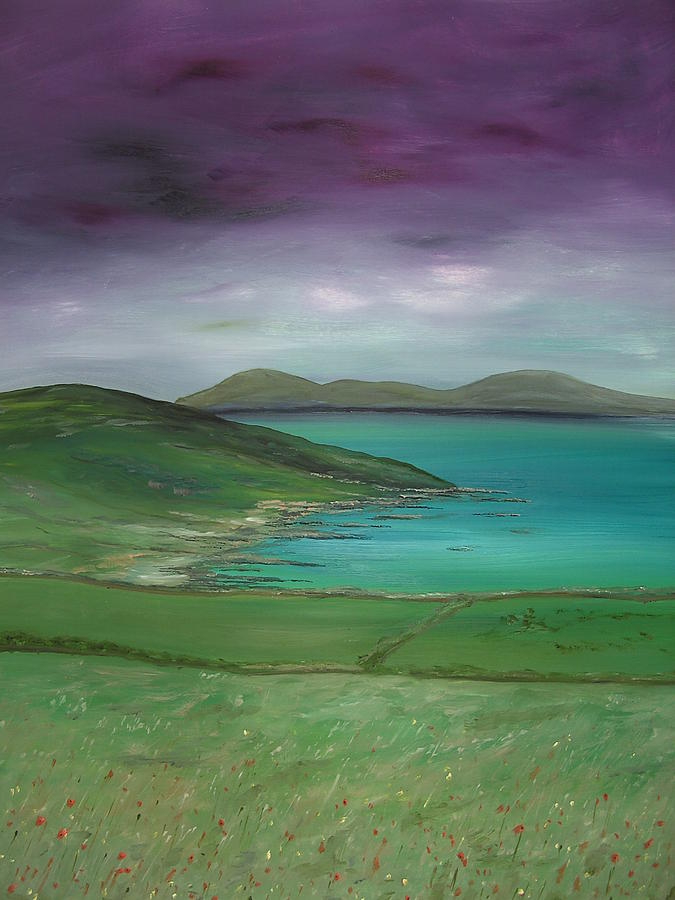 Purple Painting - Purple Sky Over Donegal by Maurice Noble