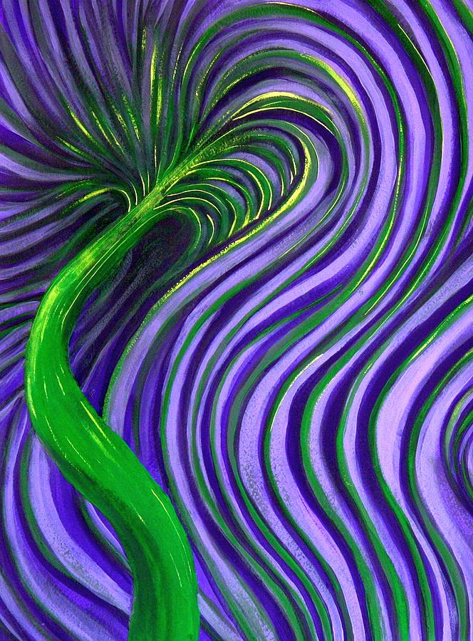 Purple Slides Painting by Camylle Moore