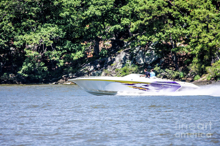 New York Photograph - Purple Speed Boat by William Rogers