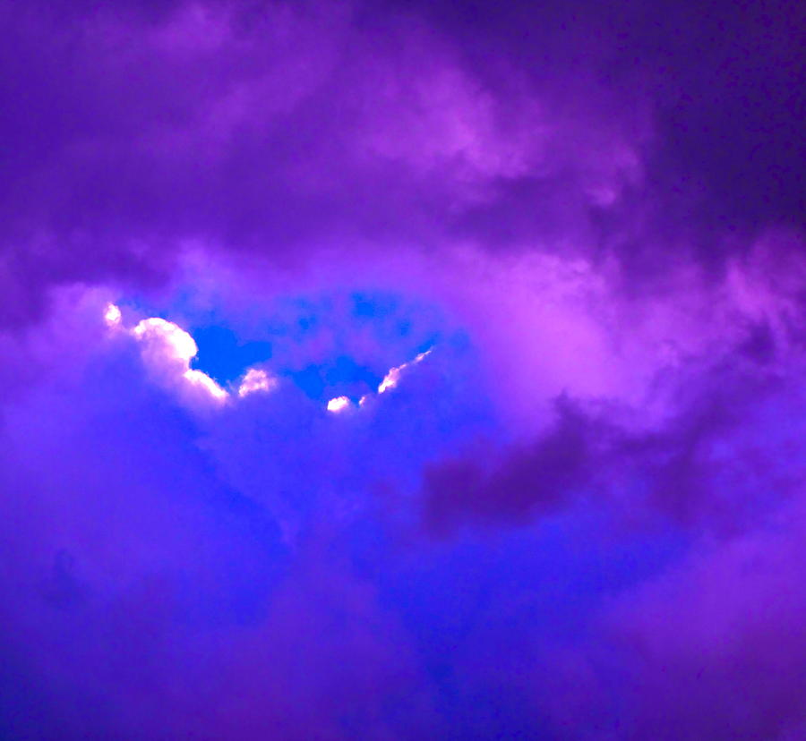 Cloud Photograph - Purple Storm by Gwyn Newcombe