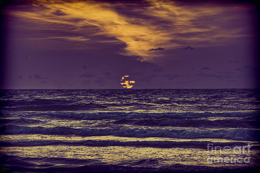 Sunrise Photograph - Purple Sunrise by Jeff Breiman