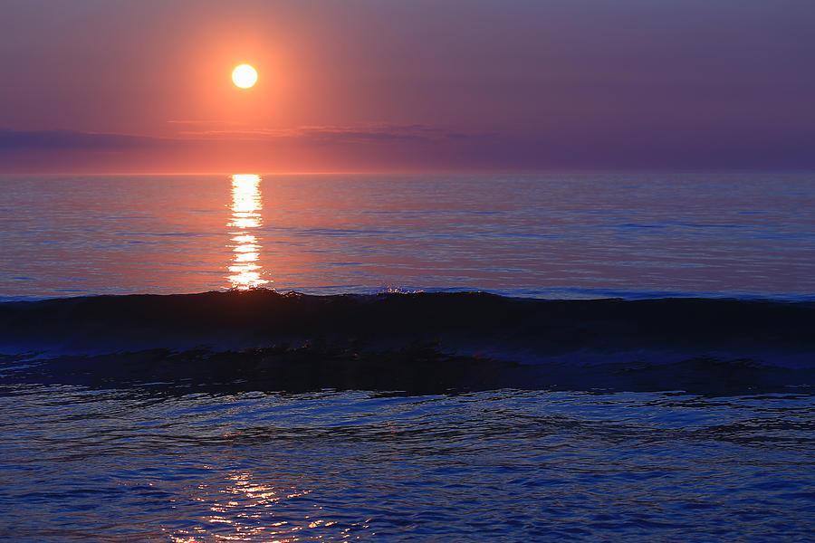 Purple Sunrise Photograph - Purple Sunrise On Nauset Beach by Dapixara Art
