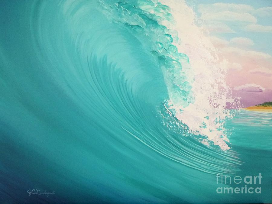 Purple Sunset Curl by Jenn C Lindquist