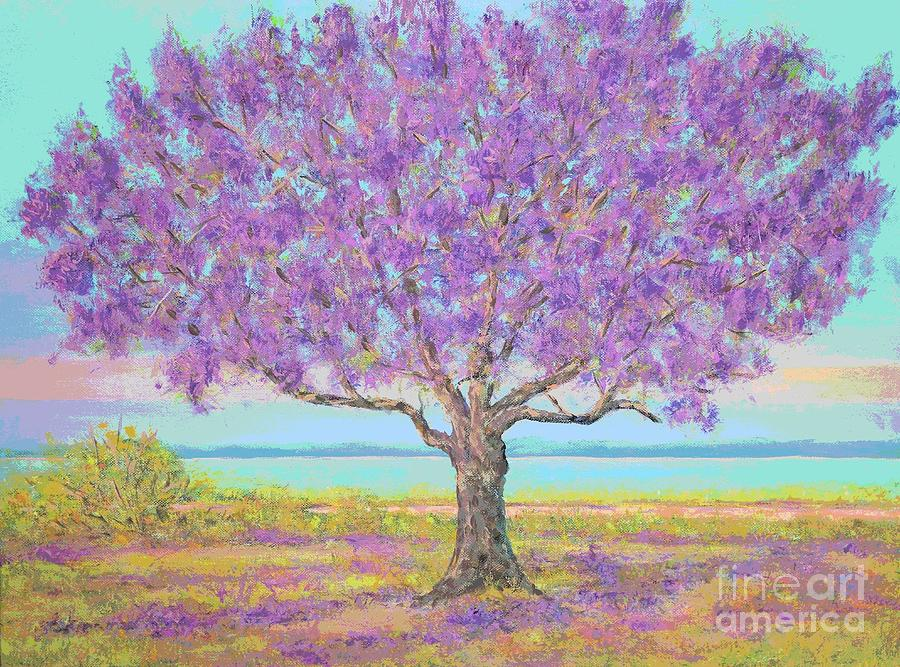 Purple Tree by Gail Kent