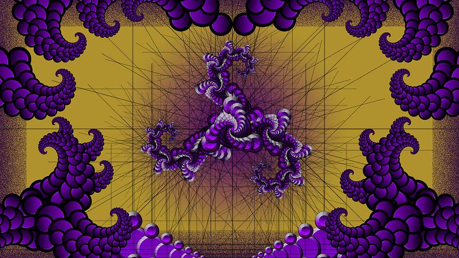Digital Digital Art - Purple Tripolar by Andrew Murray