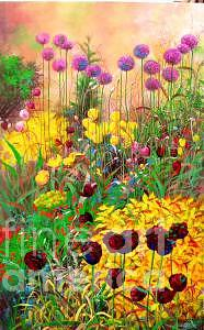 Flower Painting - Purple Tulip by Bo Li