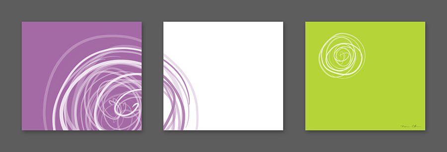 Abstract Digital Art - Purple Twirl by Nomi Elboim