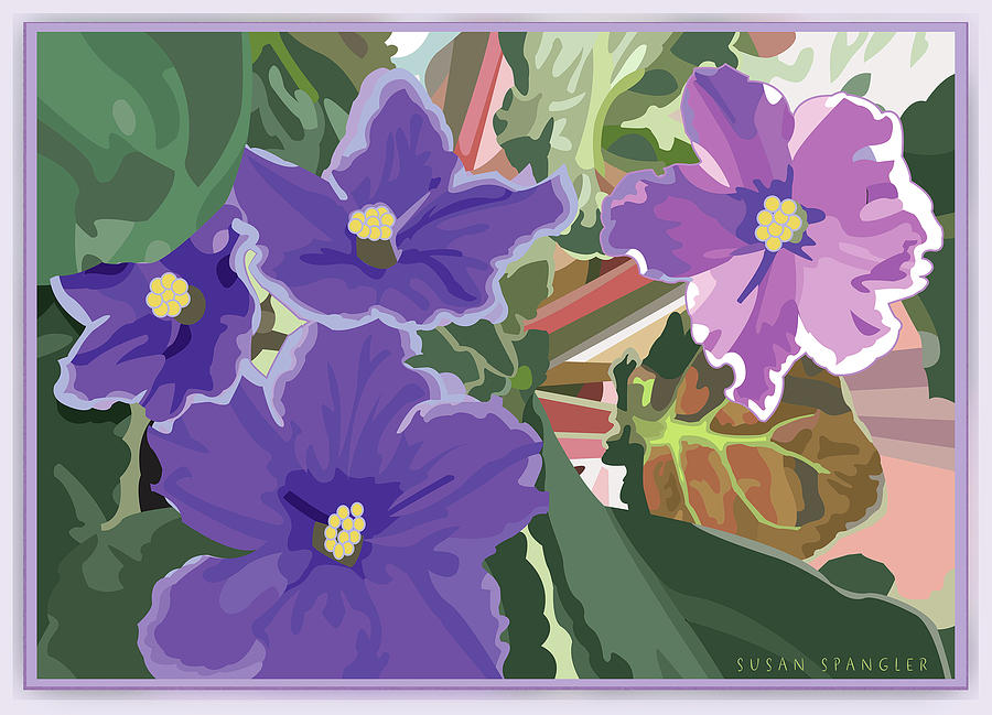 Purple Violets by Susan Spangler