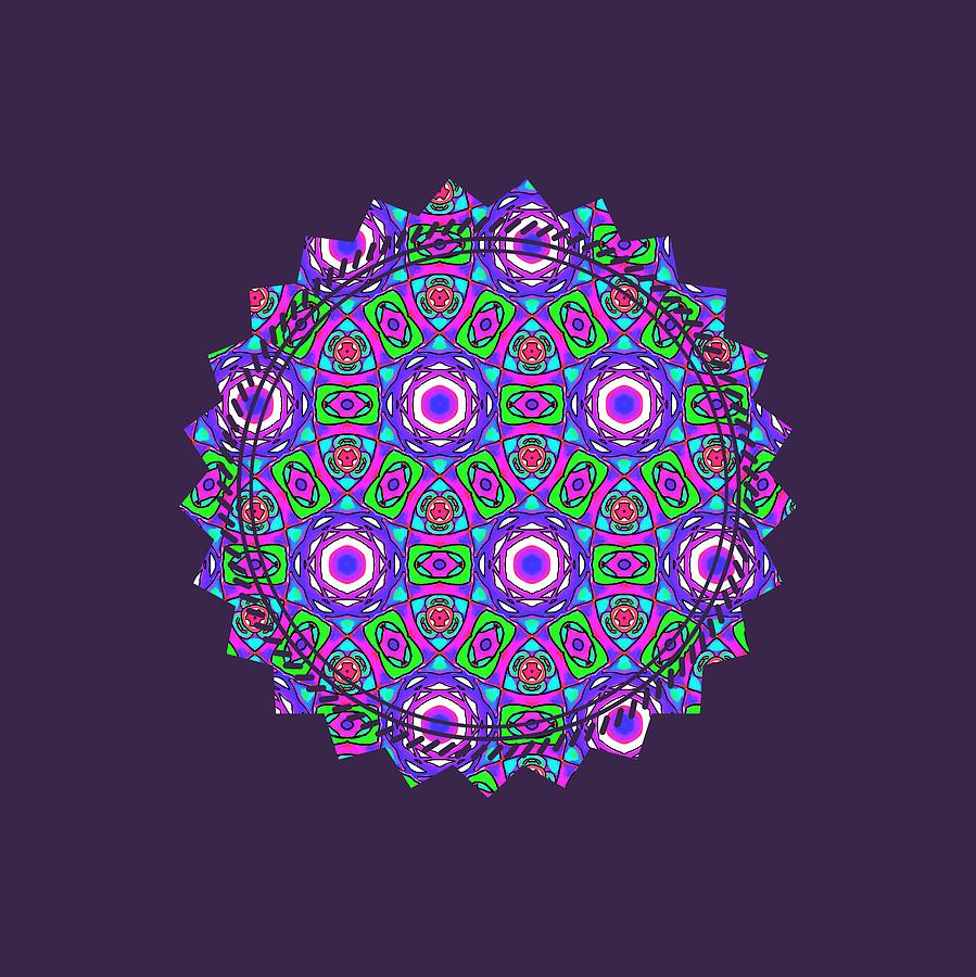 Purple Watercolor Mandala Pattern by Becky Herrera