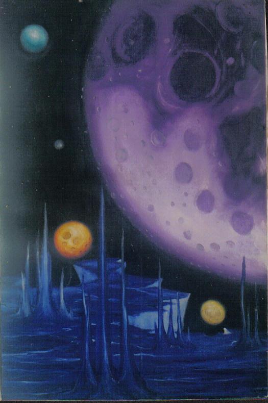 Purple World Painting by Robie Julian