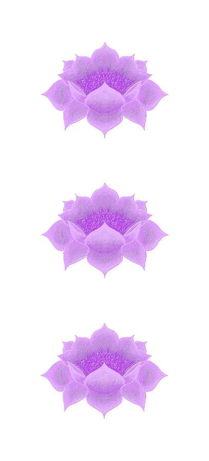 Purple Lotus pattern by Elizabeth Lock