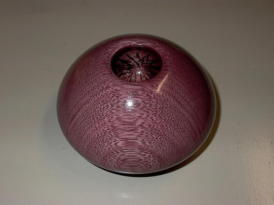 Wood Sculpture - Purpleheart Flytrap - Peltogyne Dionaea by Shawn Roberts