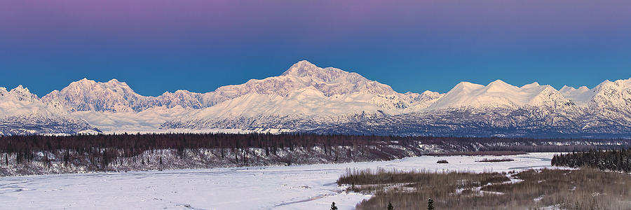 Alaska Landscape Photograph - Purples Blue by Ed Boudreau